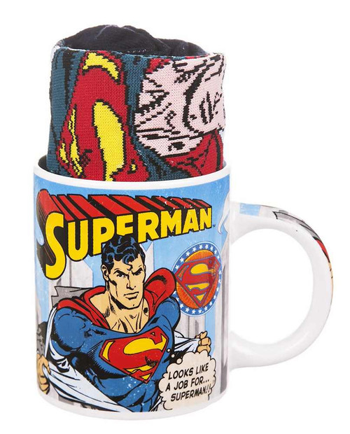 Superman Mug and Socks Gift Set