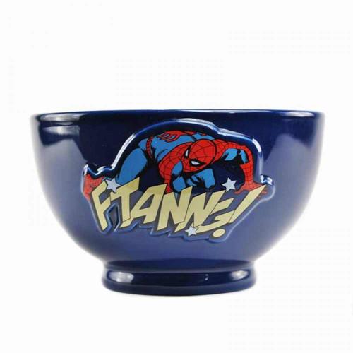 Spiderman Embossed Ceramic Bowl