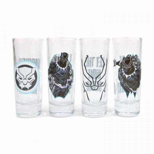 Black Panther Set Of 4 Shot Glasses
