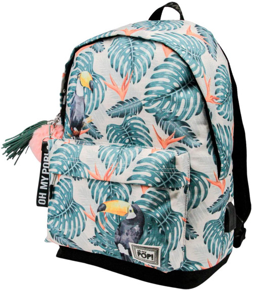 Oh My Pop Toucan USB Backpack