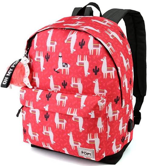 Oh My Pop Llama USB Backpack