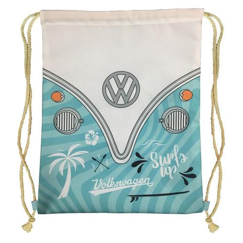 VW Camper Van Surfs Up Drawstring Bag