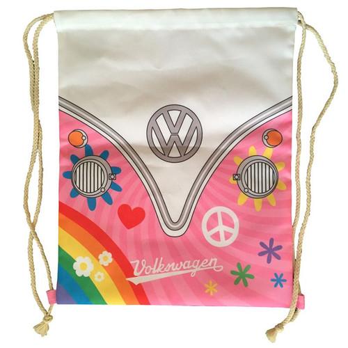 VW Camper Van Summer Love Drawstring Bag