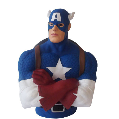Captain America Bust Money Bank