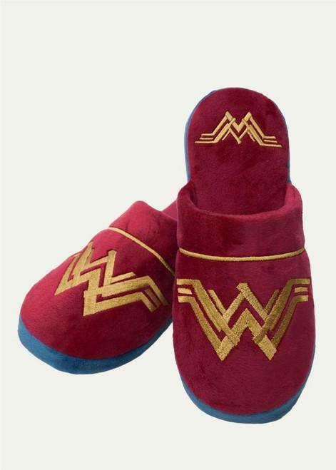 Wonder Woman Maroon Ladies UK 5-7 Slippers