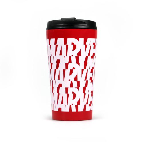 Marvel Multi Logo Metal Travel Mug