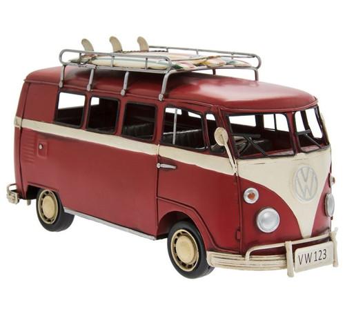 VW Camper Van Metal Model Red