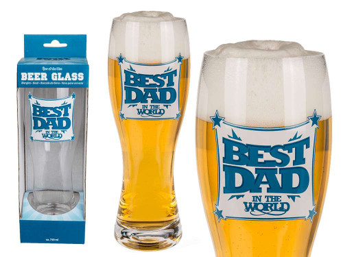 Best Dad Large Beer Glass