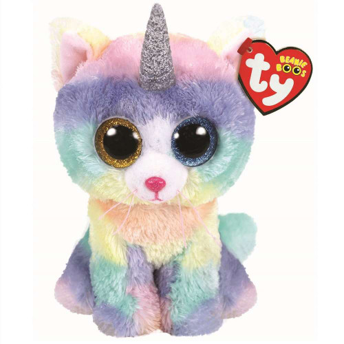 Beanie Boos Babies Heather Cat With Horn Pony Soft Toy