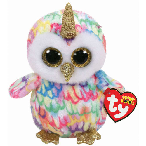 Beanie Boos Babies Enchanted Owl With Horn Pony Soft Toy