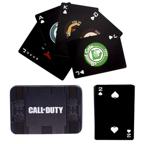 Call Off Duty Gaming Playing Cards In Gift Tin