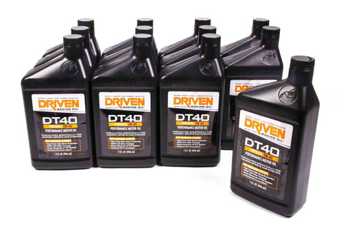 DT40 5w-40 Synthetic Oil - Case of 12 Quarts JGP02406-12 Driven Racing Oil