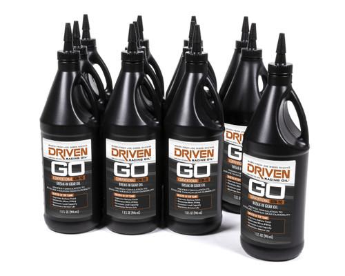 Gear Oil - 80w-90 Break-In Petroleum Gear Oil - Case of 12 Quarts JGP02330-12 Driven Racing Oil