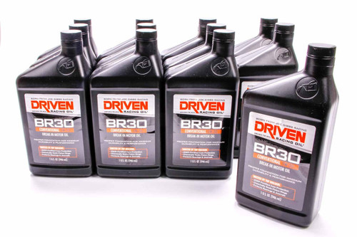 BR30 5w-30 Break-In Petroleum Oil - Case of 12 Quarts JGP01806-12 Driven Racing Oil