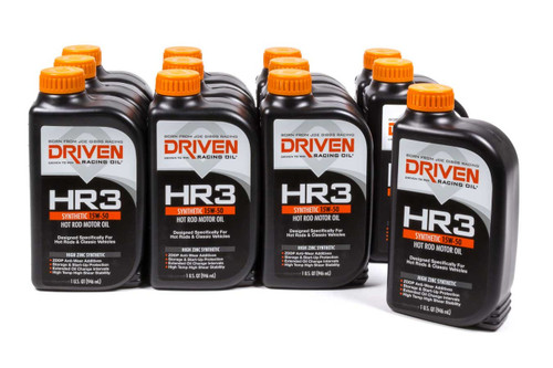 HR3 15w-50 Synthetic Oil - Case of 12 Quarts JGP01606-12 Driven Racing Oil