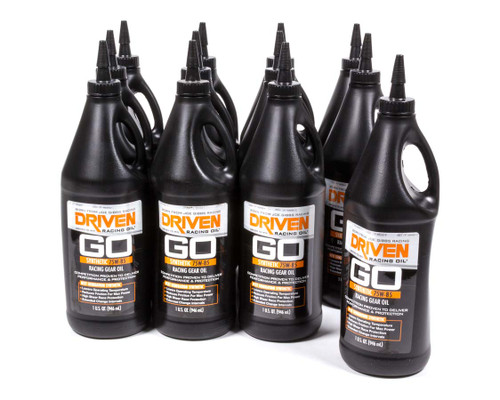 Gear Oil - 75w-85 Synthetic Racing Gear Oil - Case of 12 Quarts JGP00830-12 Driven Racing Oil