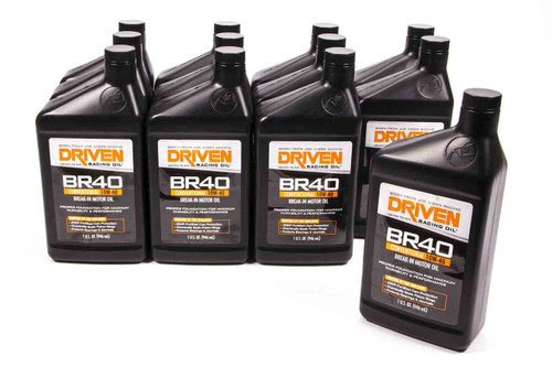 BR40 10w-40 Break-In Petroleum Oil - Case of 12 Quarts JGP03706-12 Driven Racing Oil