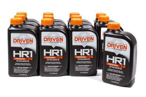 HR1 15w-50 Petroleum Oil - Case of 12 Quarts JGP02106-12 Driven Racing Oil