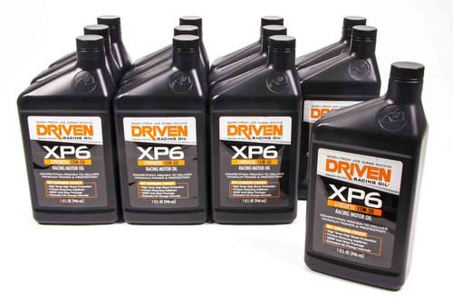XP6 15w-50 Synthetic Racing Oil - Case of 12 Quarts JGP01006-12 Driven Racing Oil