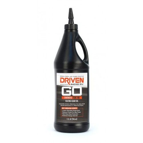 Gear Oil - 75w-140 Synthetic Racing Gear Oil - Case of 12 Quarts JGP04330-12 Driven Racing Oil