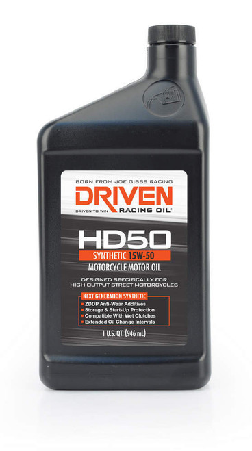 HD50 15w-50 Motorcycle Oil JGP02706 Driven Racing Oil