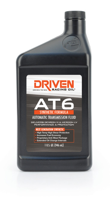 Transmission Fluid, AT6, Automatic, Synthetic, 1 qt, Each  JGP04806 Driven Racing Oil