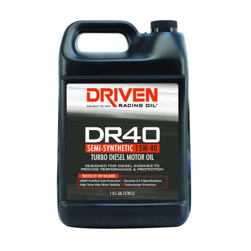 DR40 High Zinc Semi-Syn Diesel Oil 15w40 1 Gal JGP05408 Driven Racing Oil
