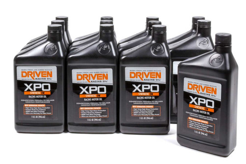 XP0 0w Synthetic Racing Oil - Case of 12 Quarts JGP00406-12 Driven Racing Oil