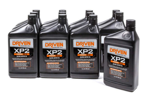 XP2 0w-20 Synthetic Racing Oil - Case of 12 Quarts JGP00206-12 Driven Racing Oil