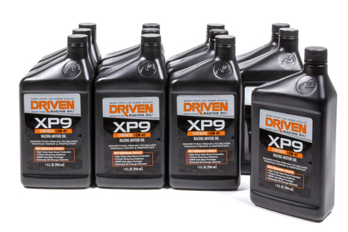 XP10 0w-10 Synthetic Racing Oil - Case of 12 Quarts JGP03306-12 Driven Racing Oil