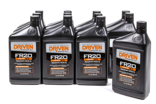 FR20 5w-20 Synthetic Oil - Case of 12 Quarts JGP03006-12 Driven Racing Oil