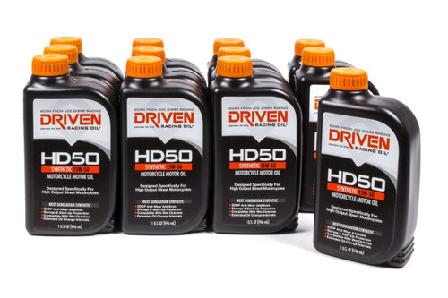 HD50 15w-50 Motorcycle Oil - Case of 12 Quarts JGP02706-12 Driven Racing Oil