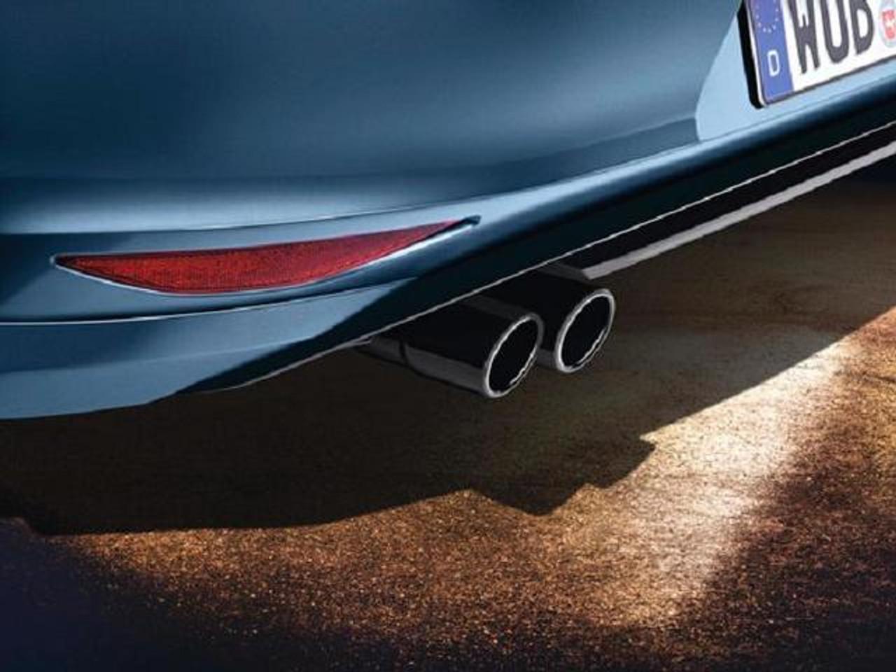2011-2018 VW Jetta Black Stainless Steel Exhaust Tips