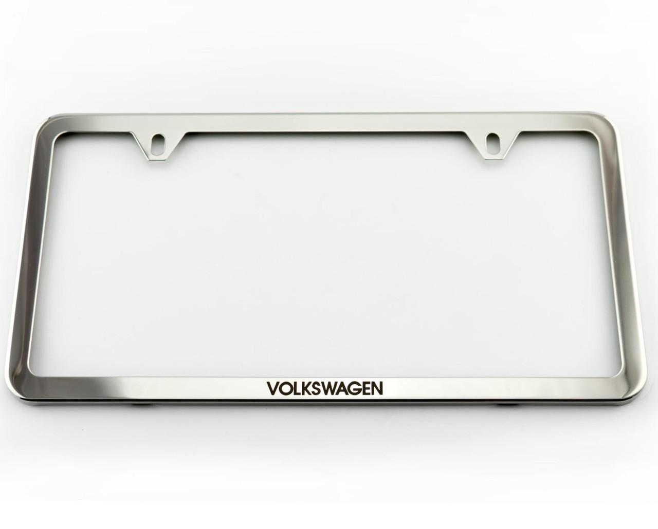 VW Slim Polished License Plate Frame (Z010)