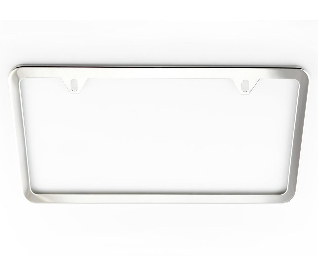 VW Slim Polished License Plate Frame (Z008)