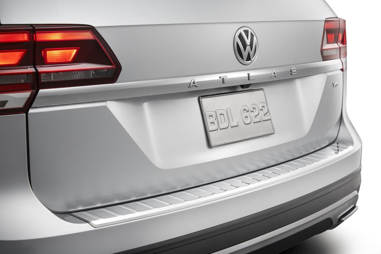 vw atlas chrome rear bumper protector  shipping vw accessories shop