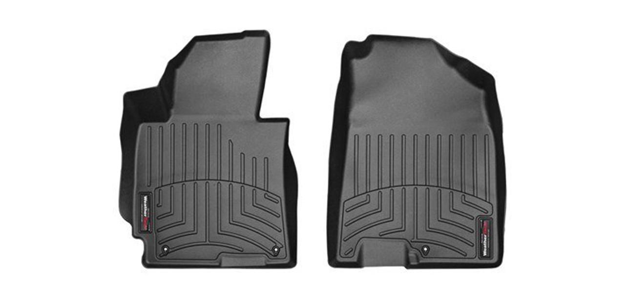 VW Beetle Convertible WeatherTech FloorLiners- Front, Black