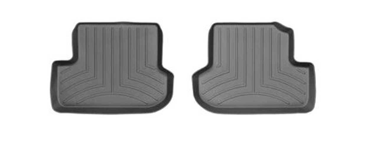 VW Beetle Convertible WeatherTech FloorLiners- Rear, Black