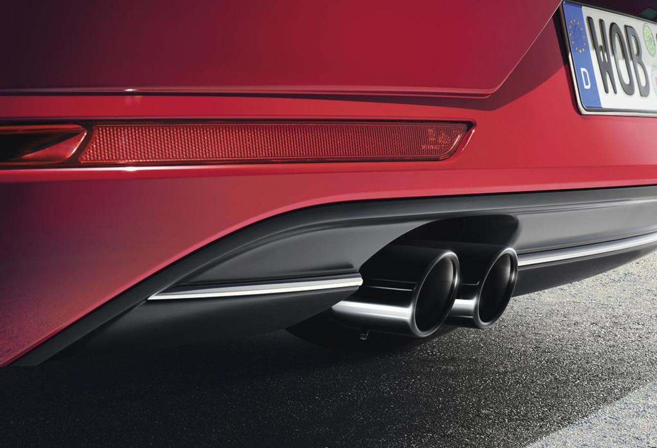 2015 2017 vw golf sportwagen black exhaust tips free. Black Bedroom Furniture Sets. Home Design Ideas