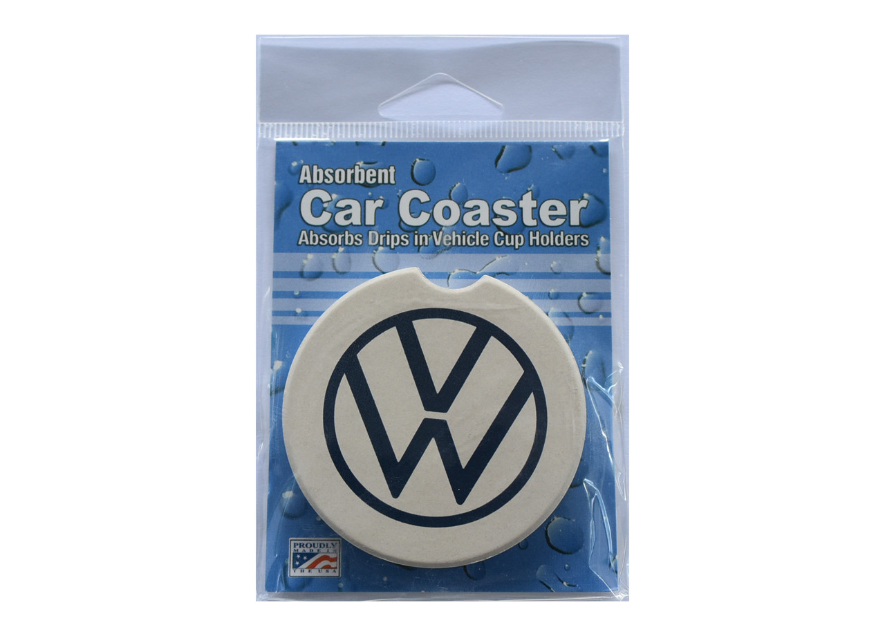 VW Sandstone Car Coasters (In Package Front)