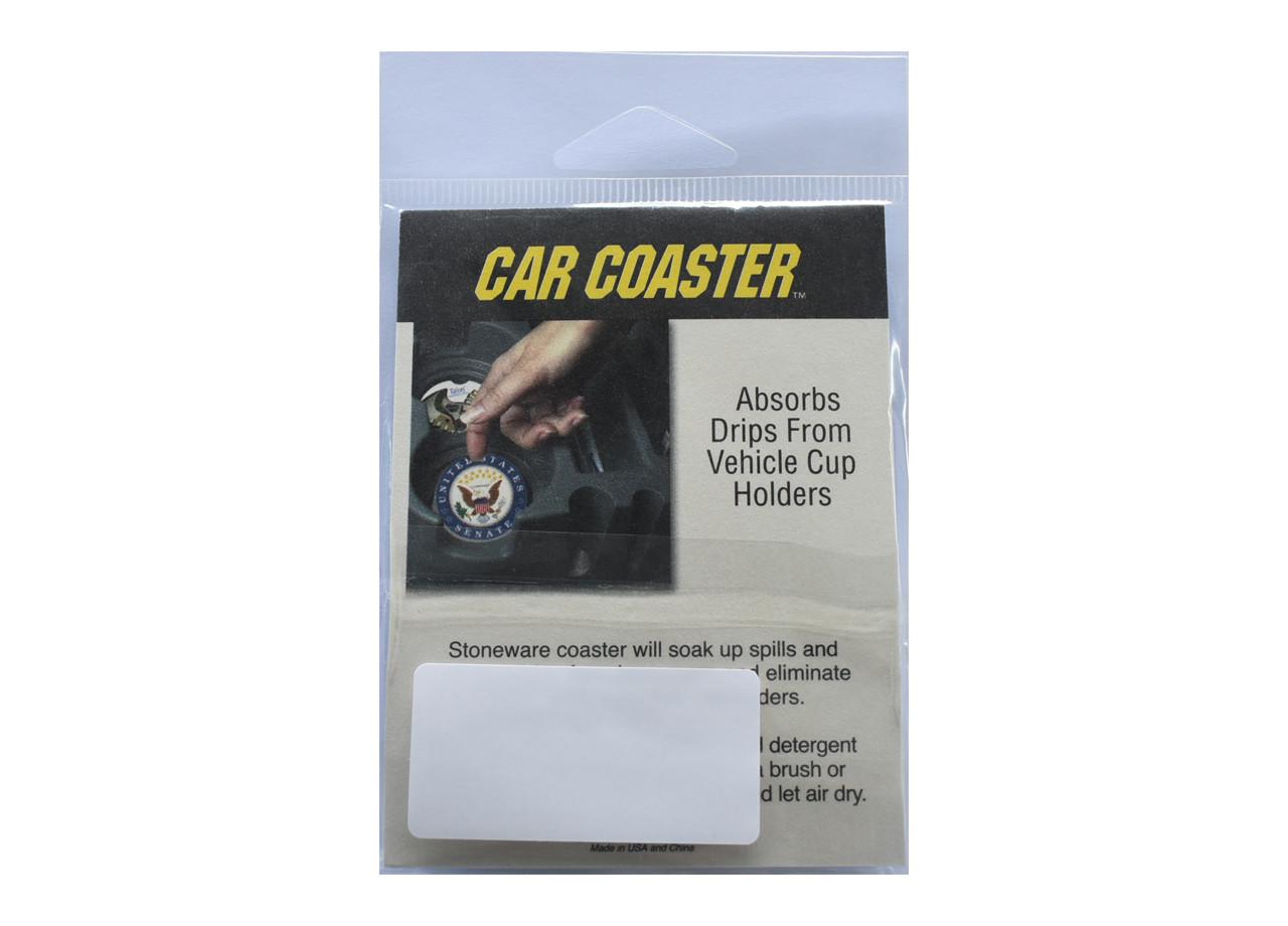 VW Sandstone Car Coasters (In Package Back)