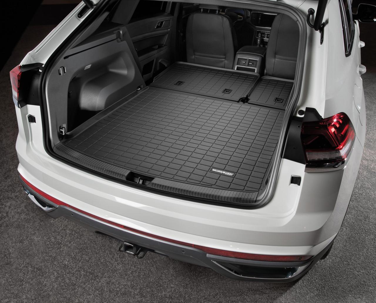 2020-2021 VW Atlas Cross Sport Rubber Cargo Mat w/ Seat Back Protection