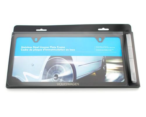 VW Slim Black License Plate Frame (Z011)