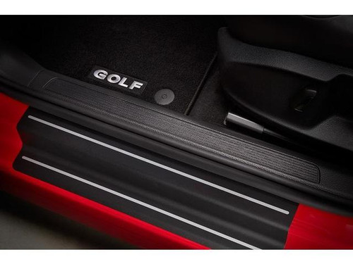 VW Golf Black Door Sill Film