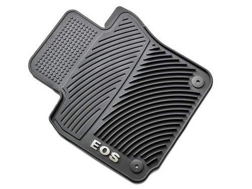 2006-2016 VW Eos Rubber Floor Mats - Round Retention Clips