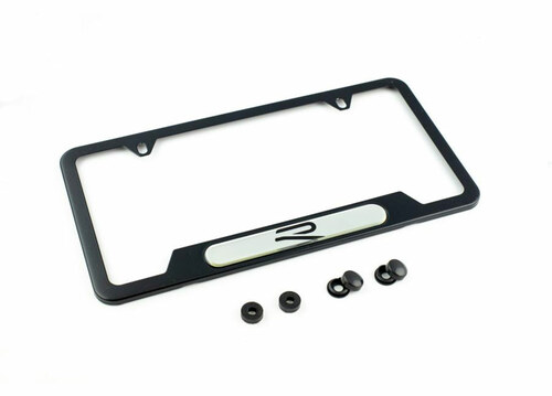 VW R-Line Black License Plate Frame