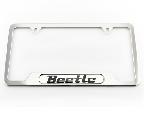 VW Beetle Polished License Plate Frame (A012)