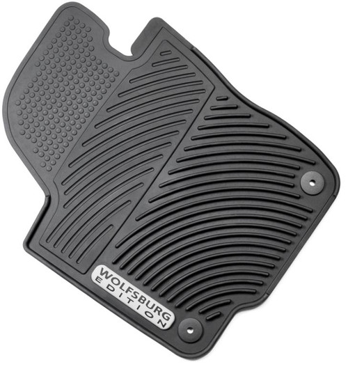 2012-2019 VW Passat Rubber Floor Mats, Wolfsburg Edition