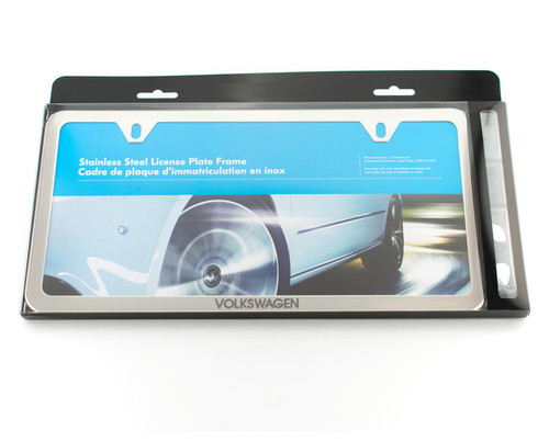 VW Slim Polished License Plate Frame (Z010)