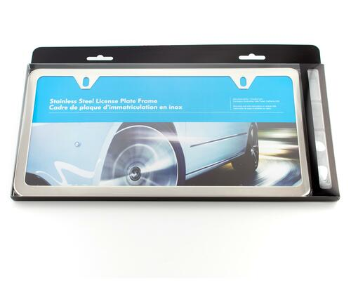 VW Slim Polished License Plate Frame (Z008)